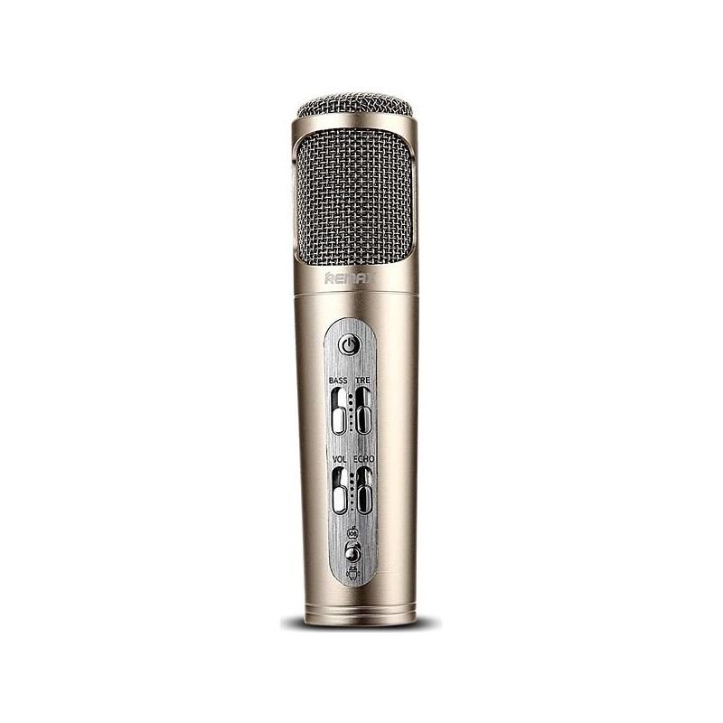 REMAX RM-K02, MIKROFON, ZLATY, AA-1277