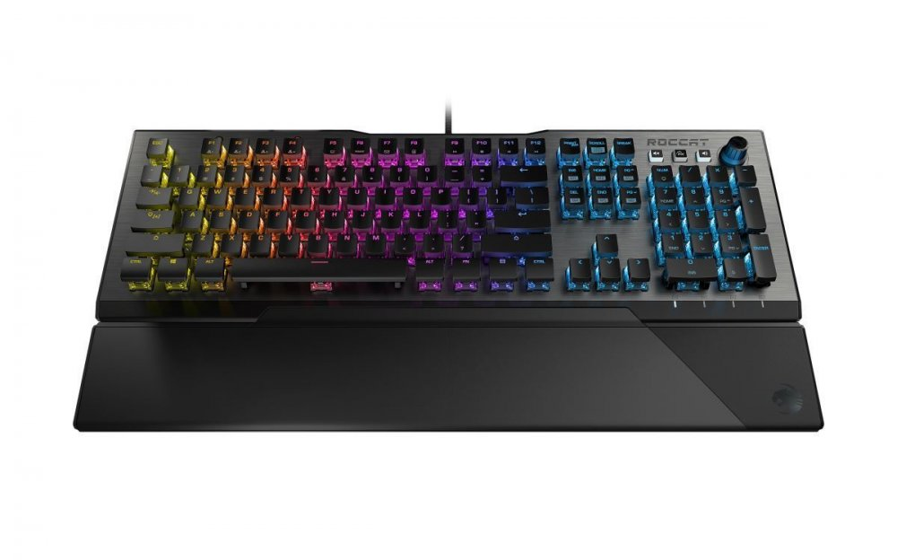 ROCCAT MECHANICKA HERNA KLAVESNICA VULCAN 121 AIMO RED TITAN SWITCH SPEED RGB US LAYOUT CIERNA