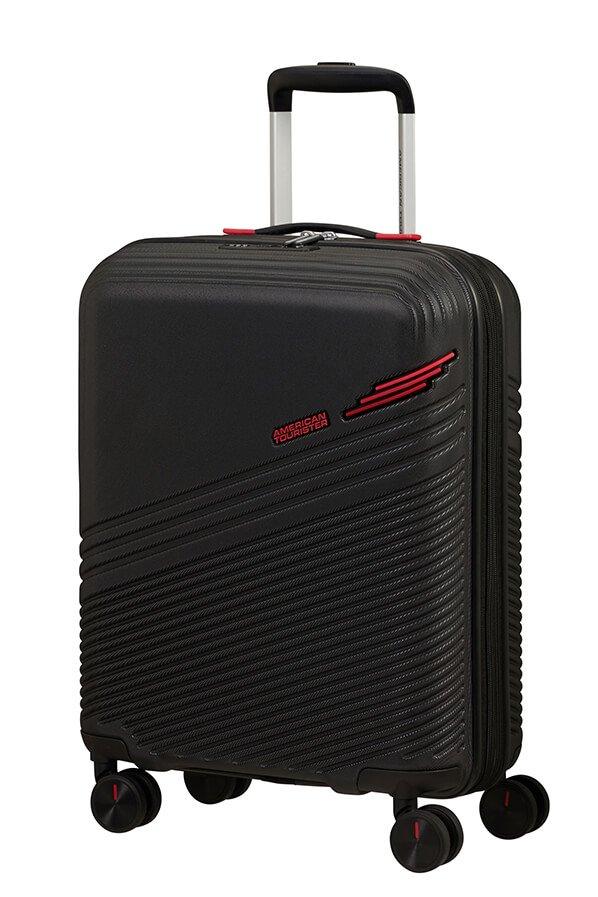 SAMSONITE AMERICAN TOURISTER TRIPLE TRACE SPINNER 55/20 TSA EXP BLACK/RED