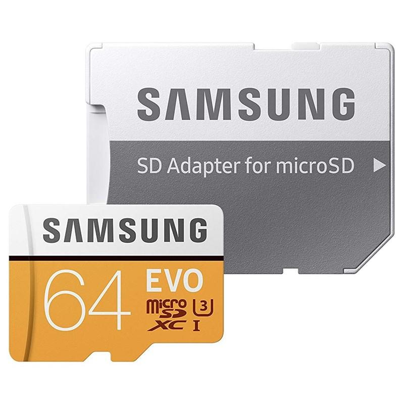 SAMSUNG MB-MP64GA/EU 64GB MICROSDHC KARTA SAMSUNG EVO PLUS + ADAPTER