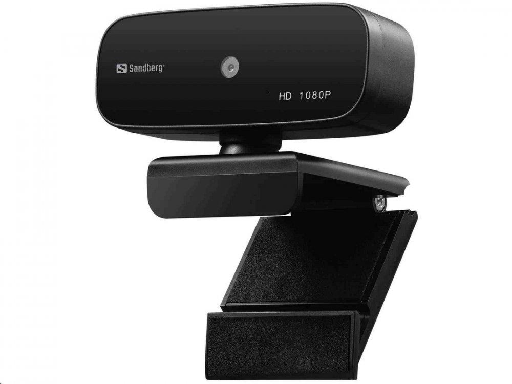 SANDBERG USB WEBCAM AUTOFOCUS 1080P HD, CIERNA