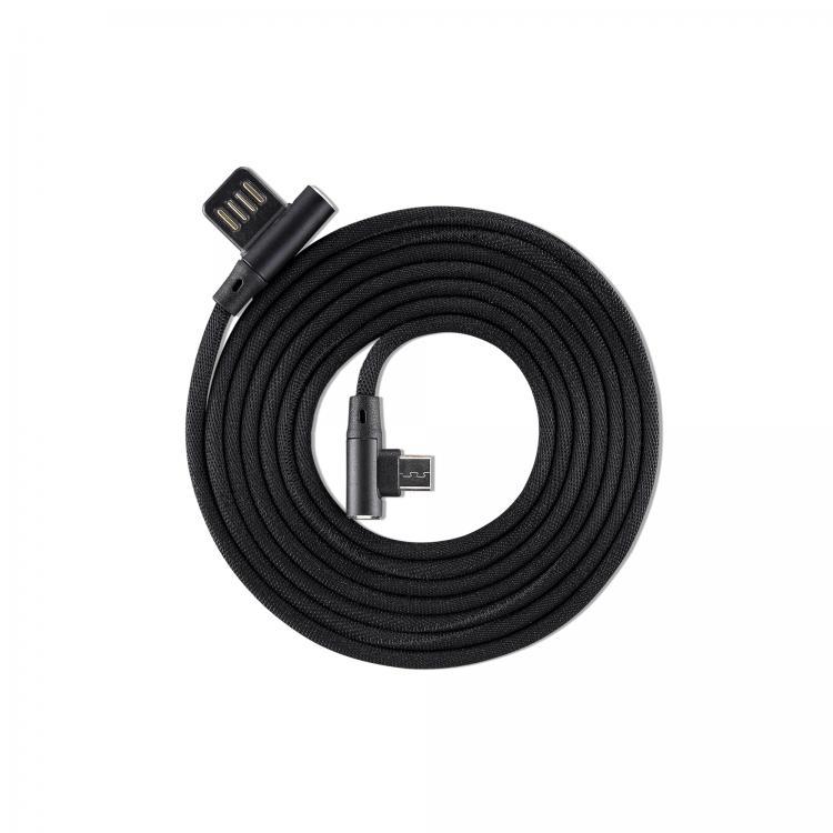 SBOX KABEL USB 2.0/MICRO USB 2.0 90STUP. 1,5M BLACK, USB-MICRO-90B