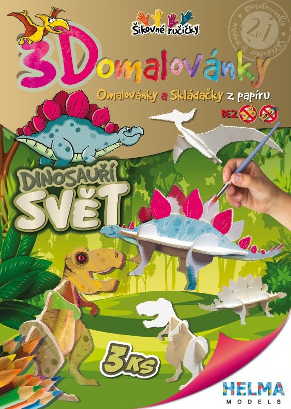 STIL 3D OMALOVANKA A4 - SET DINOSAURIE SVET 4001297