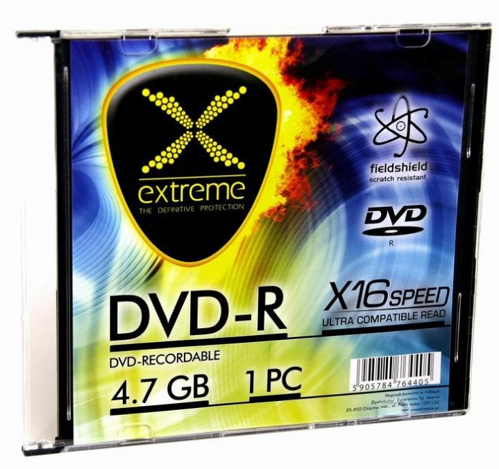 Zľava  ESPERANZA EXTREME DVD-R SLIM JEWEL CASE 1 4,7 GB 16X