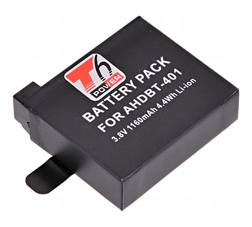 T6 POWER BATERIE GOPRO AHDBT-401, 1160MAH, CIERNA