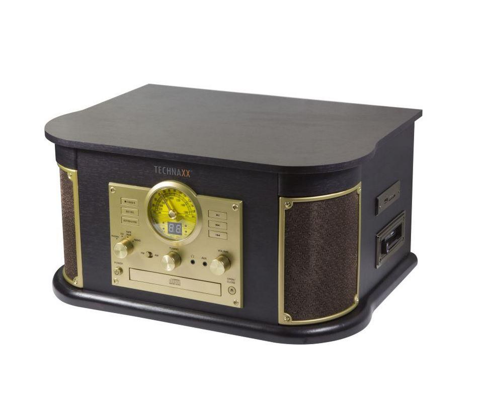 TECHNAXX BLUETOOTH PREHRAVAC CD/GRAMOFON/KAZETA, KONVERTOR - PREVOD DO MP3 FORMATU (TX-103)