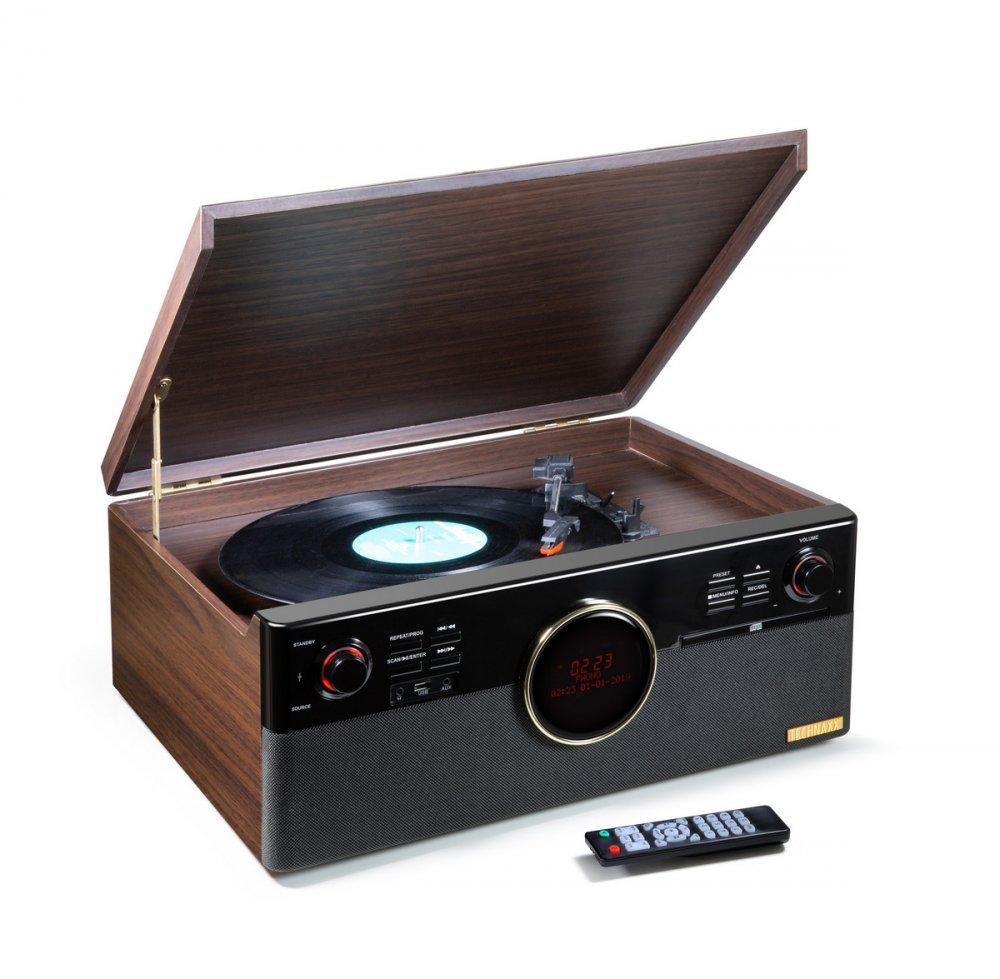 TECHNAXX BLUETOOTH PREHRAVAC CD/GRAMOFON/KAZETA, RADIO, KONVERTOR PREVOD DO MP3 (TX-137)
