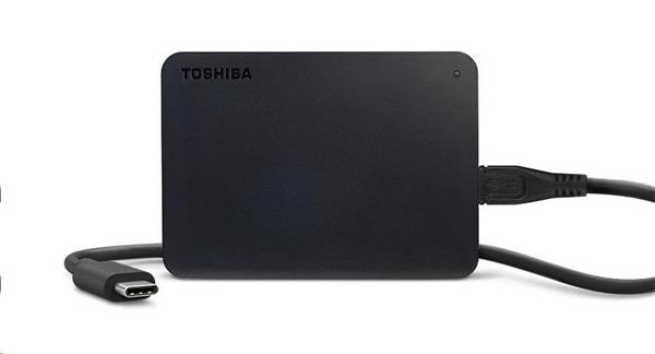 TOSHIBA CANVIO BASICS 2.5 EXTERNY HDD + USB-C ADAPTER 1TB, USB 3.2, CIERNY HDTB410EK3ABH