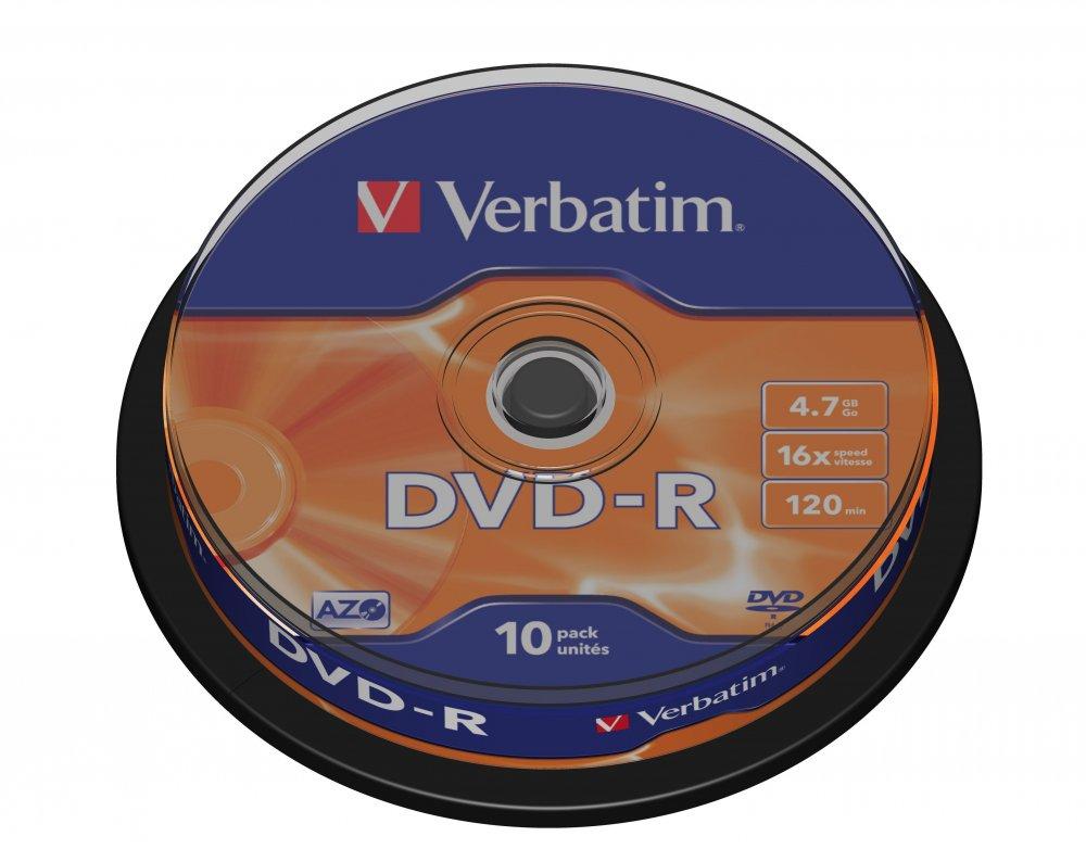 VERBATIM 43523 DVD-R 4.7GB/10 CAKE
