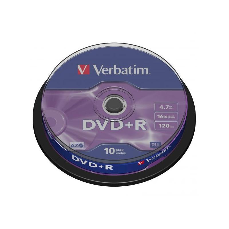 VERBATIM DVD+R 4.7GB/10 CAKE