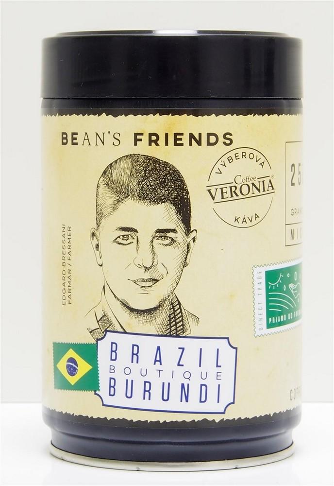 VERONIA BRAZIL BOUTIQUE BURUNDI 250 G ZRNKOVA KAVA