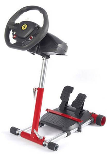 WHEEL STAND PRO STOJAN NA VOLANT A PEDALY PRO THRUSTMASTER SPIDER, T80/T100,T150,F458/F430, CERVENY