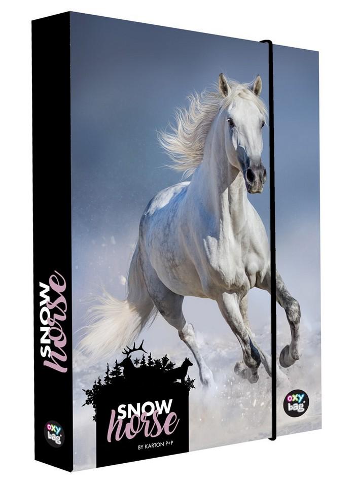 KARTON P+P BOX NA ZOSITY A5 JUMBO SNOW HORSE