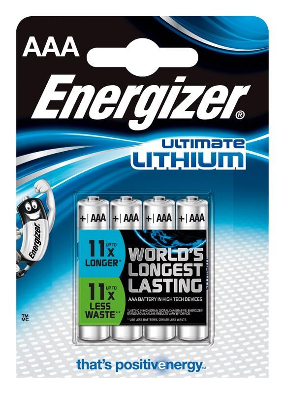 ENERGIZER ULTIMATE LITHIUM AAA, 4KS BLISTER