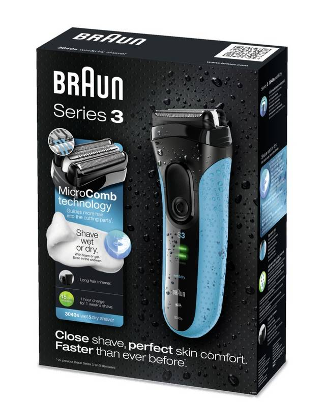 BRAUN SERIES 3 3040S WET AND DRY