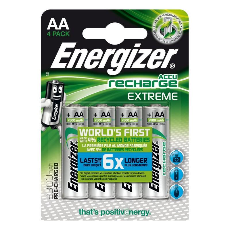 ENERGIZER RECHARGE EXTREME AA HR06 2300MAH, 4KS BLISTER