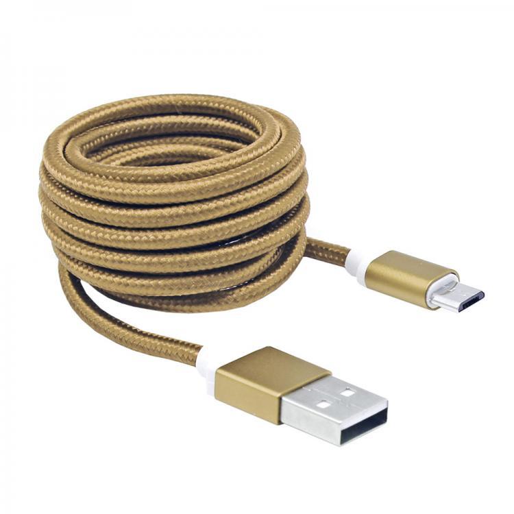 SBOX USB-10315G PREPOJOVACI KABEL USB 2.0/MICROUSB ZLATY