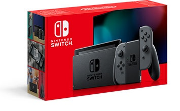 NINTENDO SWITCH CONSOLE WITH GRAY JOYCON