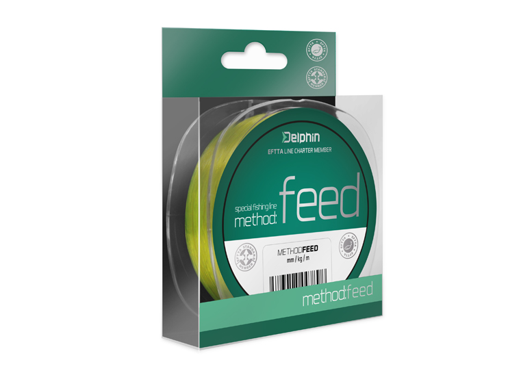 Delphin Method FEED žltá 5000m 018mm 66lbs