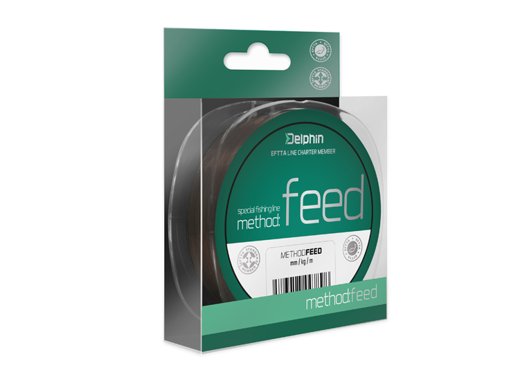 Delphin Method FEED hnedá 5000m 018mm 66lbs