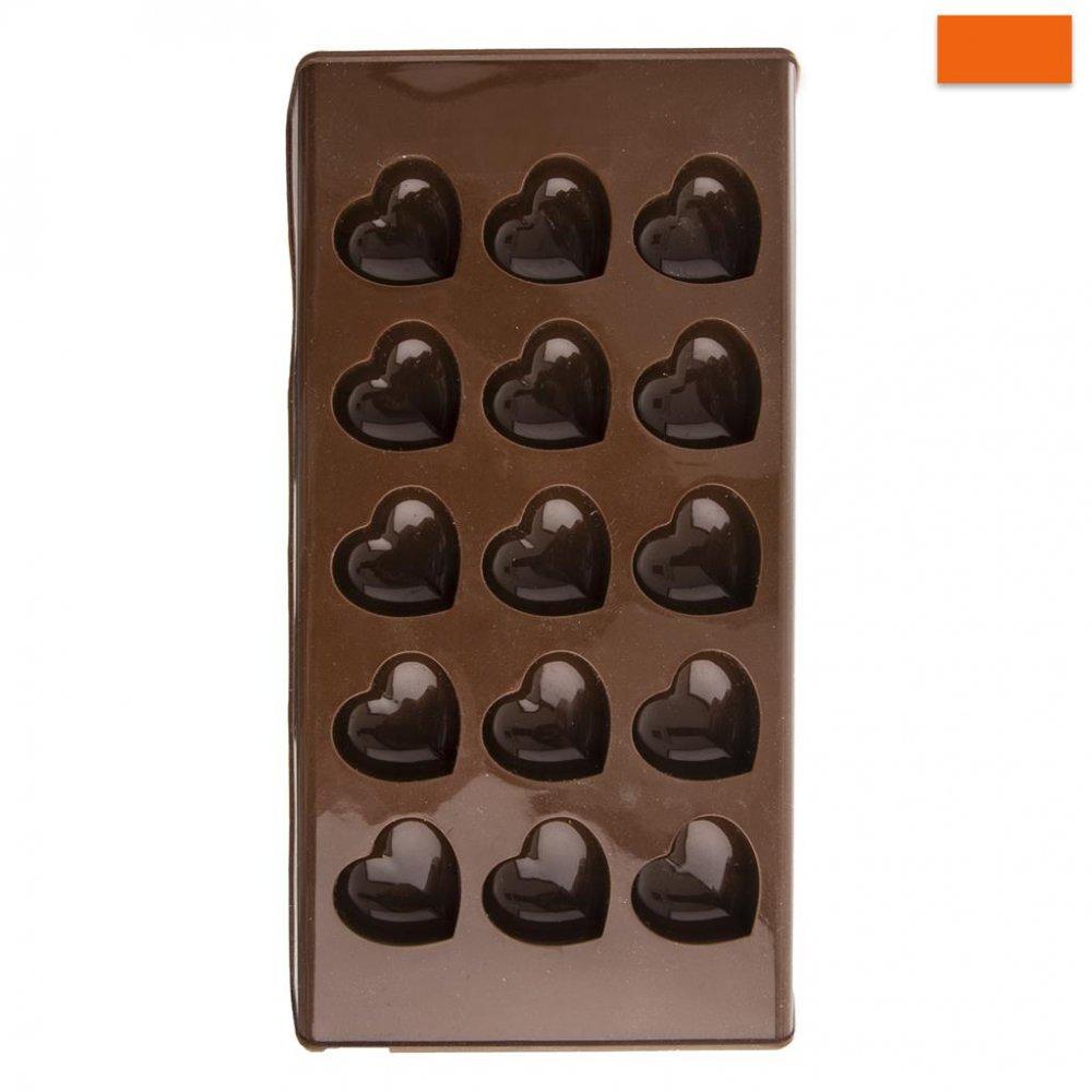 Forma silikón na čokoládu SRDCE 15