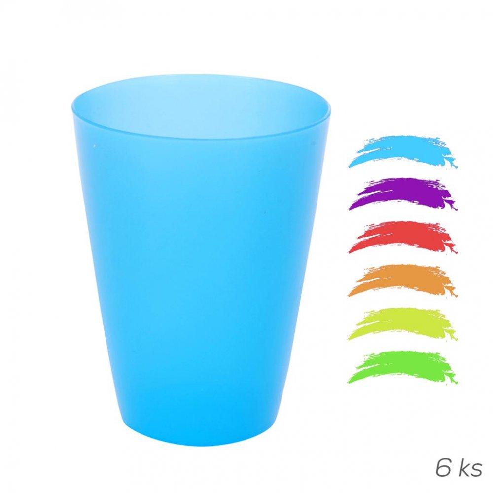 Pohár UH farebný 6 ks 0,3 l ASS