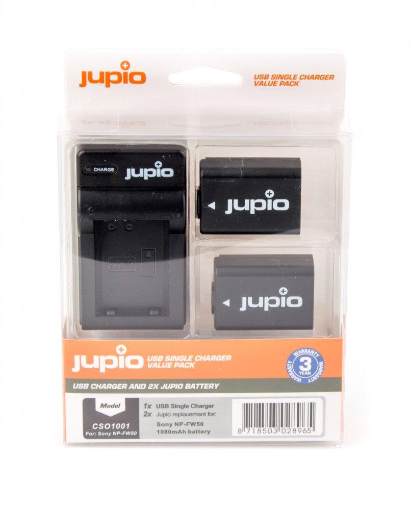 Set Jupio 2x NP-FW50 + USB nabíjačka