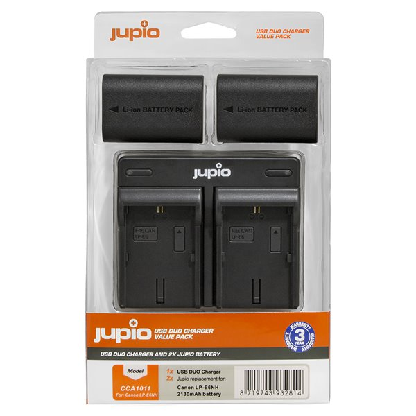 Set Jupio 2x LPE6NH  Dual Charger pre Canon