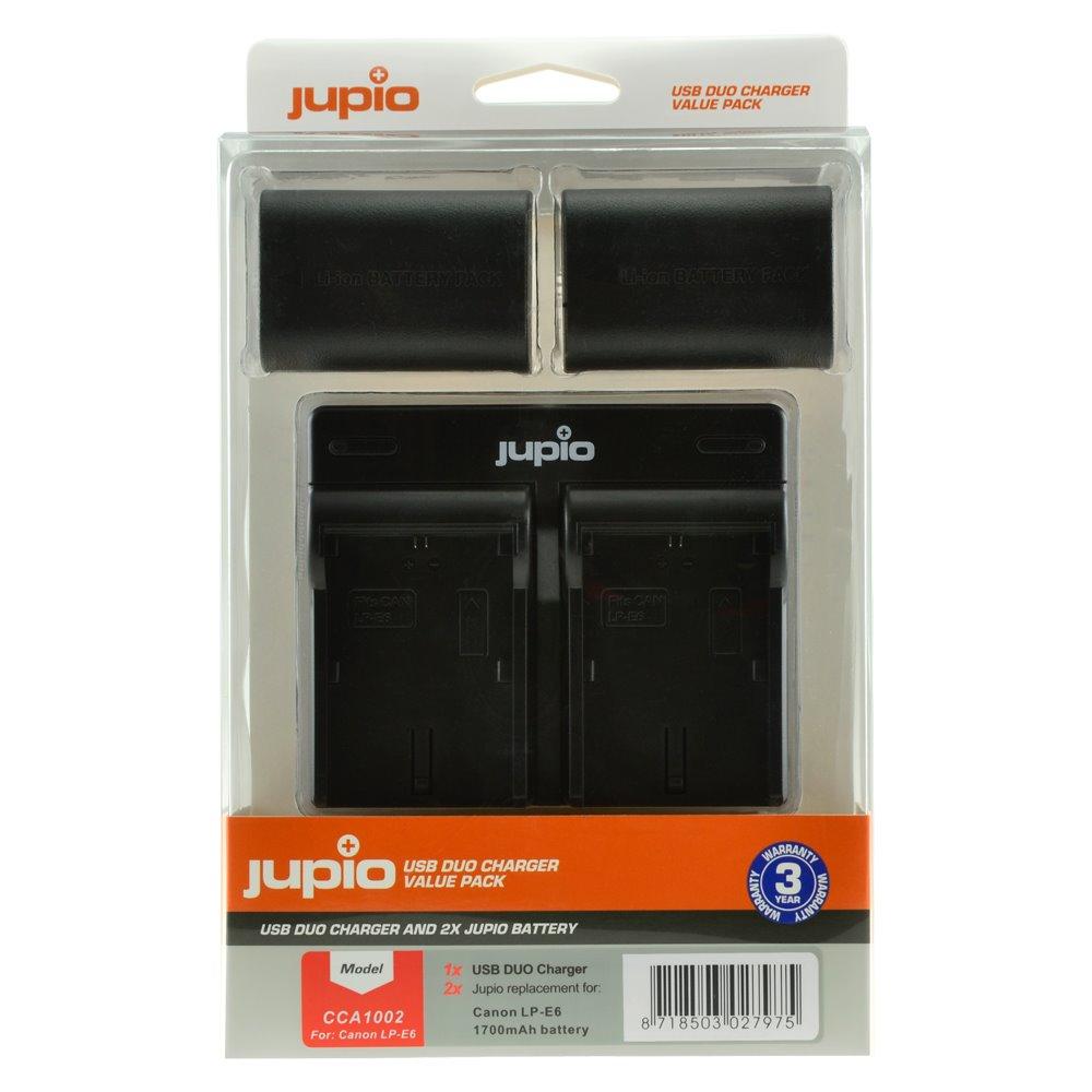 Set Jupio 2x LP-E6 1700mAh + USB Duálna nabíjačka