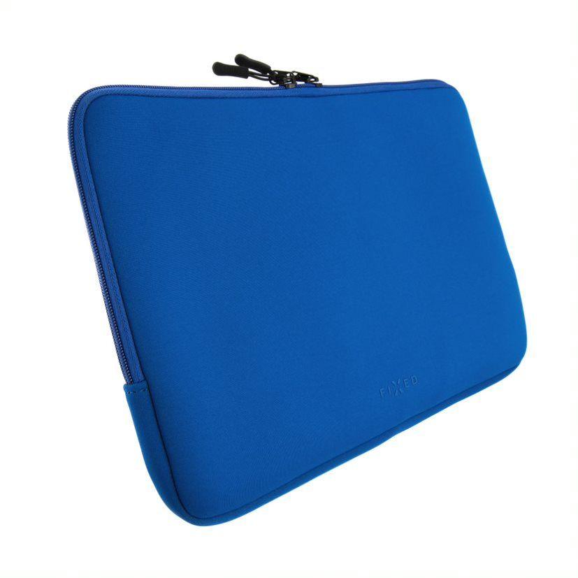 """Neoprenové pouzdro FIXED Sleeve pro notebooky o úhlopříčce do 15,6"""", modré"""