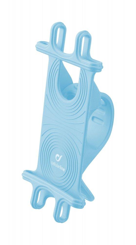 Univerzální držák Cellularline Bike Holder pro mobilní telefony k upevnění na řídítka, modrý