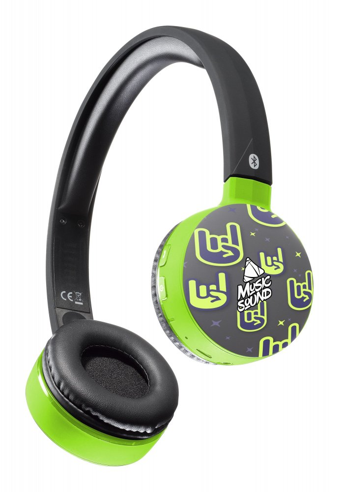 Bluetooth sluchátka MUSIC SOUND s hlavovým mostem a mikrofonem, vzor 3