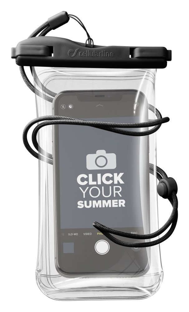 Vodotěsné univerzální pouzdro pro mobilní telefony Cellularline Voyager, černé