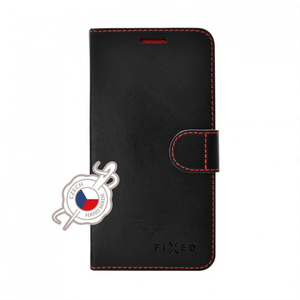Pouzdro typu kniha FIXED FIT pro Samsung Galaxy A21s, černé