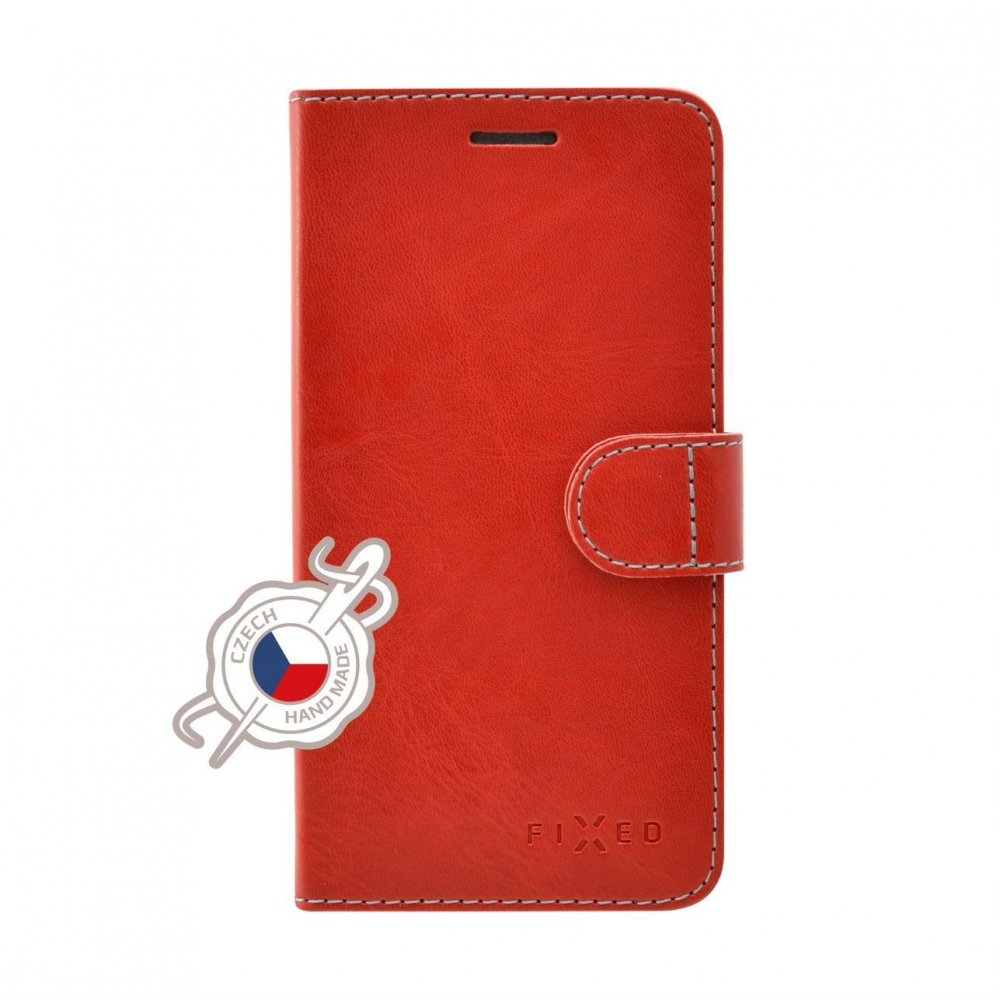 Pouzdro typu kniha FIXED FIT pro Samsung Galaxy A21s, červené