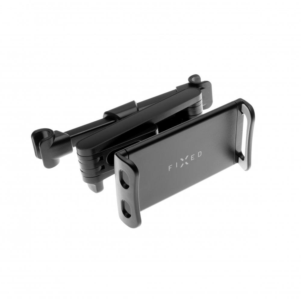 Univerzální držák pro tablety FIXED Tab Passenger 2 s uchycením do opěrky hlavy a s nastavitelným ramenem, černý