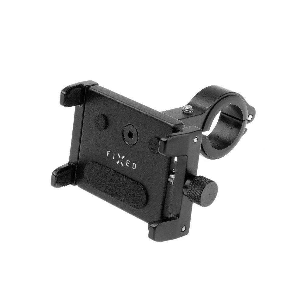 Hliníkový držák mobilního telefonu na kolo FIXED Bikee ALU, černý