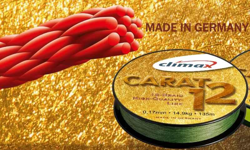 Pletená šnúra CLIMAX Carat 12 - oliva 135m 135m 0,13mm / 9,5kg