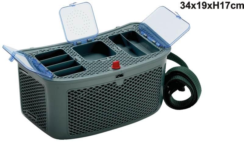 Muškársky košík na ryby DE LUXE soft s troma boxami