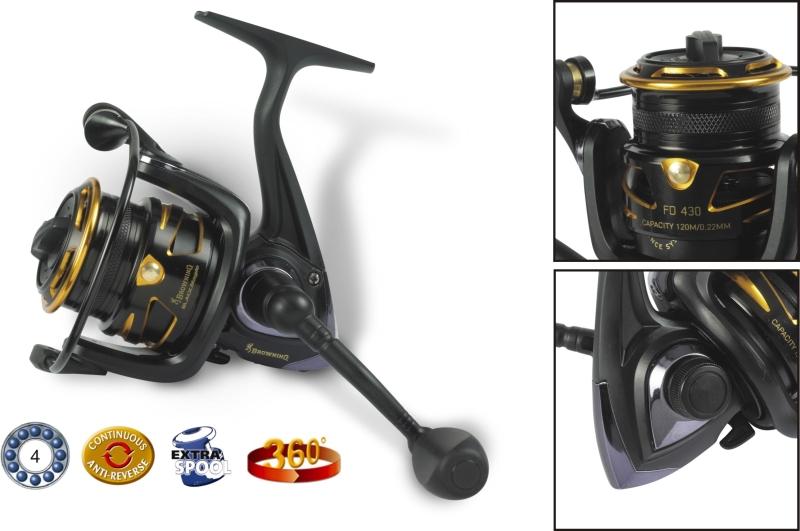 Rybársky navijak s prednou brzdou - Black Magic FD FD 430
