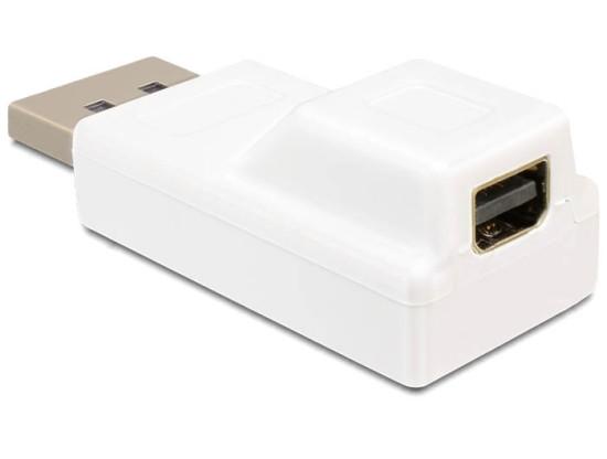 Delock adaptér Displayport samec > Displayport mini samice, bílá