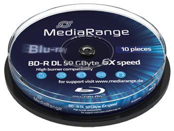 MEDIARANGE BD-R BLU-RAY 50GB 6x Dual Layer spindl 10ks