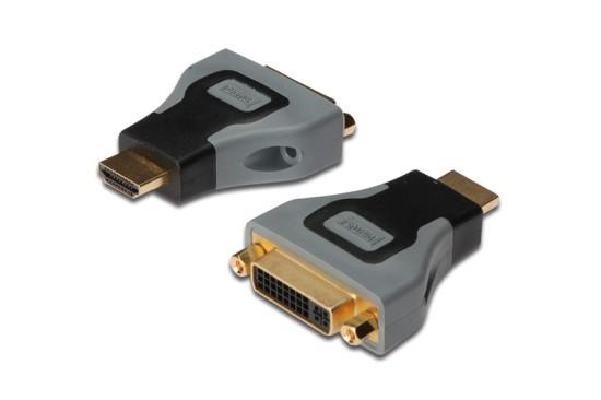 Digitus adaptér HDMI A samec / DVI(24+5) samice, černo/šedý