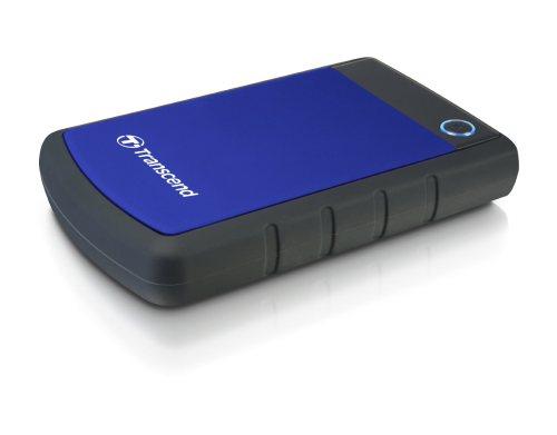 """TRANSCEND 2TB StoreJet 25H3B SLIM, 2.5"""", USB 3.0 (3.1 Gen 1) Externí Anti-Shock disk, tenký profil, černo/modrý"""