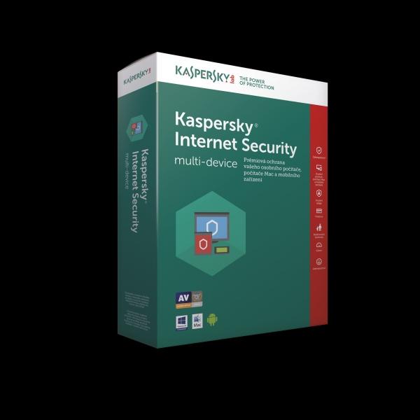 Kaspersky Internet Security CZ, 2 zařízení, 1 rok, nová licence, elektronicky
