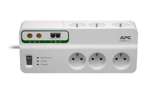 APC HomeOffice SurgeArrest 6 Outlets with Phone and Coax Protection 230V Czech