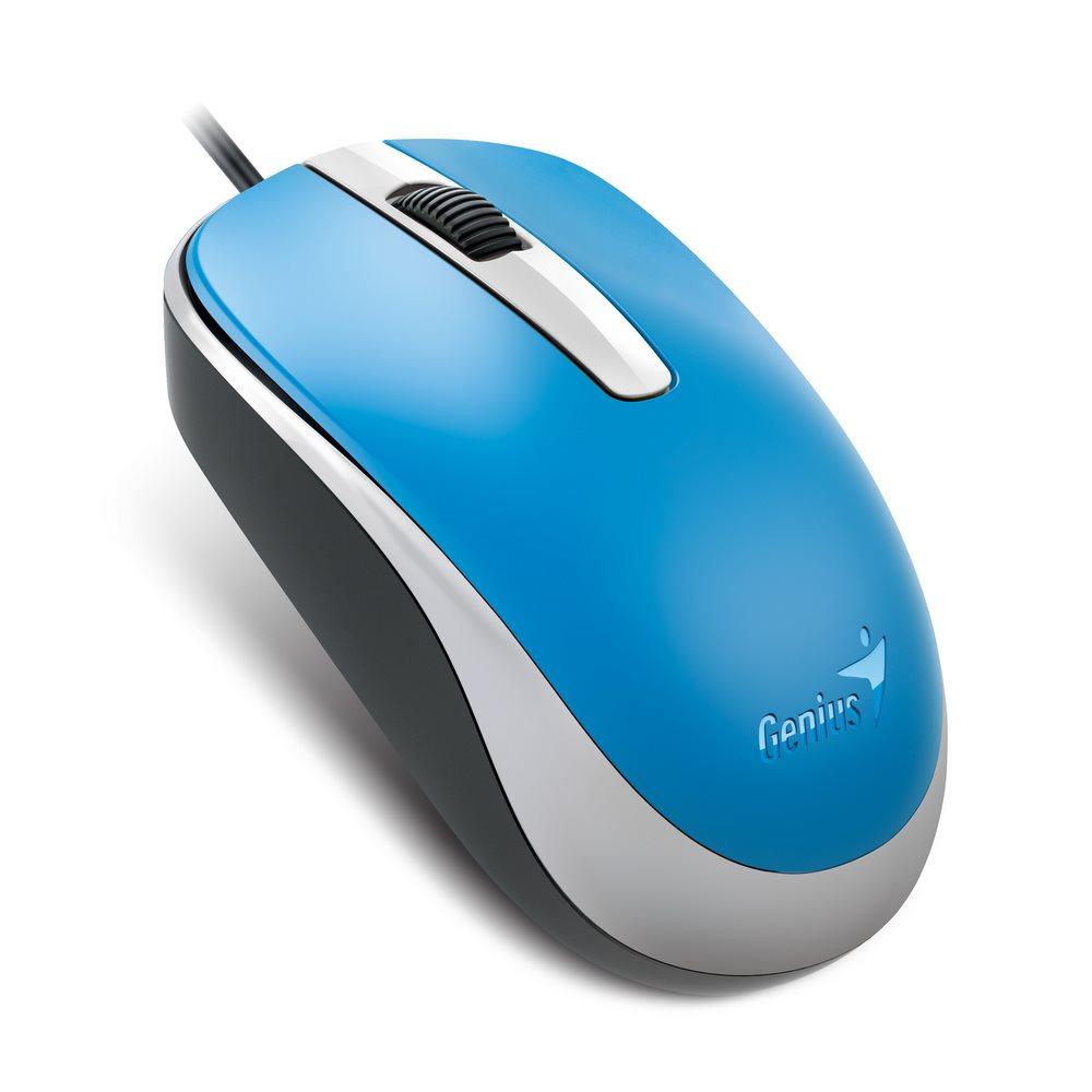 Genius myš DX-120/ drátová/ 1200 dpi/ USB/ modrá