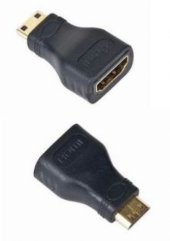 Kabel GEMBIRD red. HDMI na HDMI mini-C, F/M, zlacené kontakty, černá
