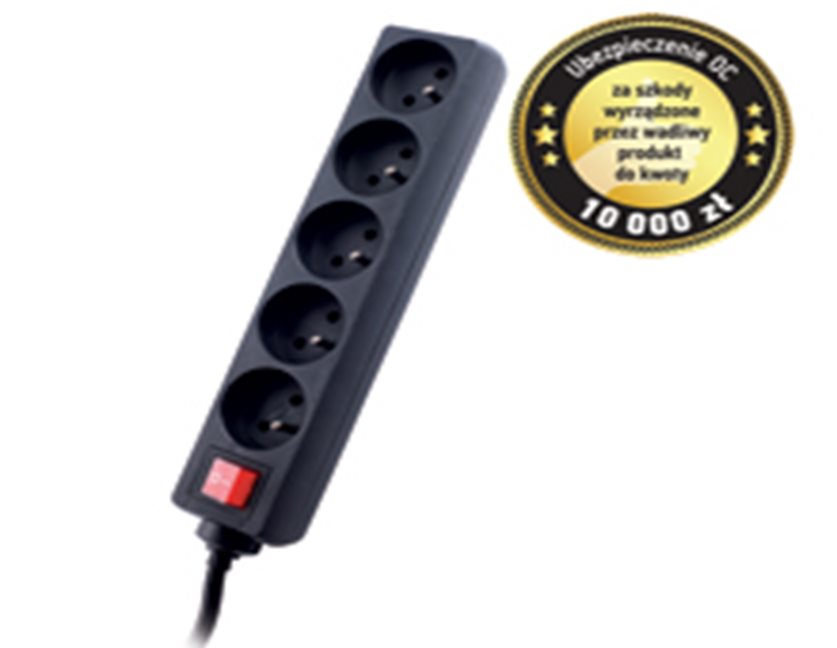 GEMBIRD Surge protector TRACER Power Patrol 18 m Black 5 outlets