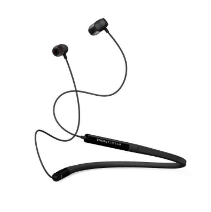 ENERGY Earphones Neckband 3 Bluetooth Black, in-ear sportovní BT sluchátka, 97±3dB, BT v4.2